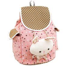 Новые поступления мультфильм рюкзак ребенок точка Дизайн с сердечком Детский рюкзак с милый кролик подарок Kawaii рюкзак мешок drawstring