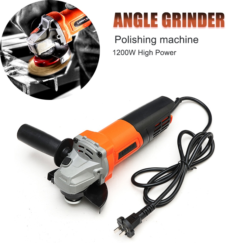 Portable Electric Angle Grinder 220V 1200W Polishing Machine Tools For Metalworking Woodwroking Cutting and Grinding Machine