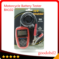 BA102 Motorcycle Battery Tester LCD Display 12V Battery Life Analysis Battery Analyzer 20 300CCA 0 30AH