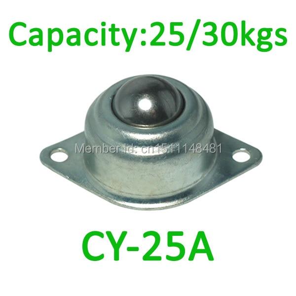 Free Shipping CY-25A Ball transfer unit,25kgs / 30kgs loading capacity,CY25A flange ball unit bearing