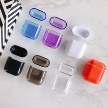 Colorful Transparent Wireless Earphone Case for Apple AirPods Hard PC Protective Cover Air Pods  Bluetooth Headset Bags