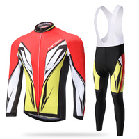 XINTOWN Men Spring China Pro Team Cycling Jersey Sets Female Bicycle Long Sleeve Maillot Clothing BIB