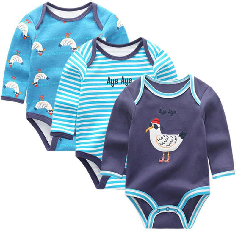 3 cái/lốc Tay dài Ban Đầu Bé Sơ Sinh Bodysuit bé Quần Áo bebes Bé Trai Bé Gái quần áo bộ cơ thể phù hợp với