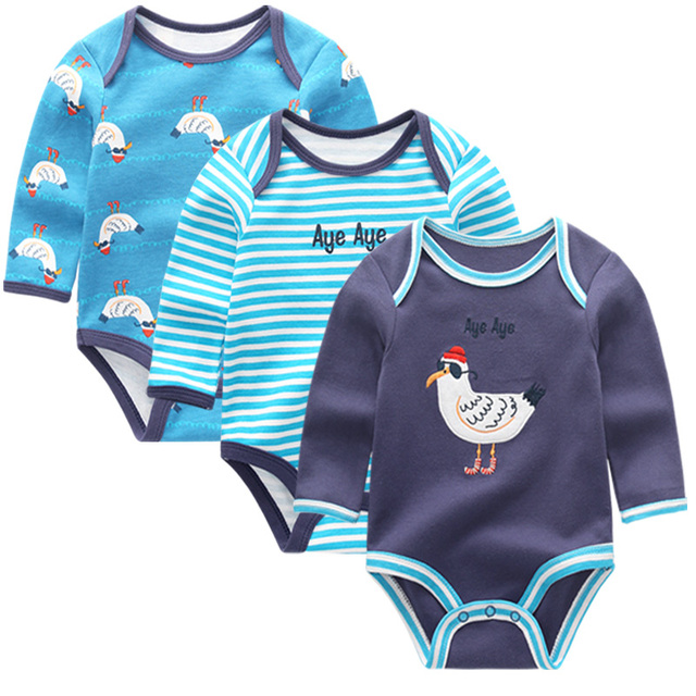 dd8c6ebfd6c 3 unids/lote manga larga Original recién nacido bebé mono niños ropa de bebes  bebé
