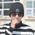 2016 Nueva Moda Masculina Toucas Gorro de Punto Sombrero Del Invierno para hombres Sombrero De Inverno Gorros Skullies Gorros de Marca Proteger Los Oídos
