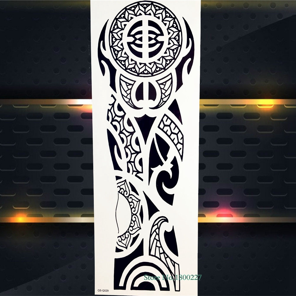 1 Piece Temporary Tattoo Sticker Water Transfer Wing: Aliexpress.com : Buy Spray Black Totem Men Armband Fake