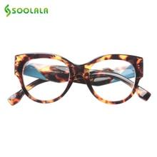 SOOLALA Reading Glasses Women Men New Arrival Full Frame Multicolor Pattern Legs Large Prescription +0.5 to 4.0