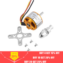 цена на 1pcs A2212 Brushless Motor 930KV 1000KV 1400KV 2200KV 2700KV For RC Aircraft Plane Multi-copter Brushless Outrunner Motor
