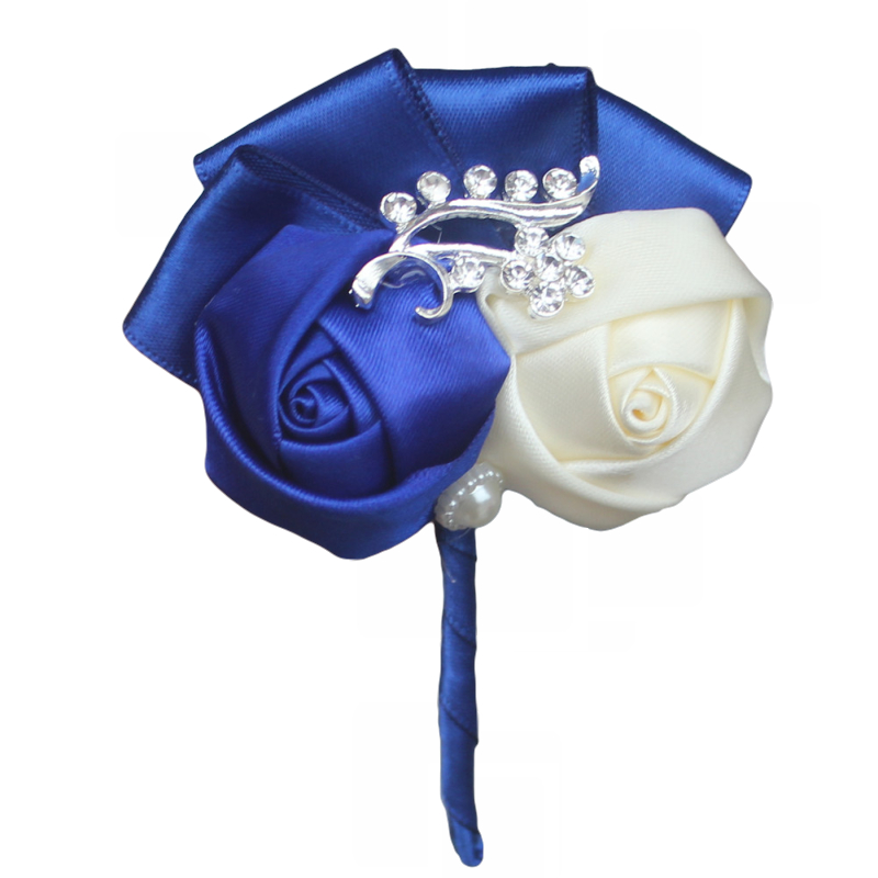 100-In-Stock-Handamde-Best-Man-Groom-Boutonniere-Satin-Rose-Wedding-Party-Prom-Man-Suit-Corsages