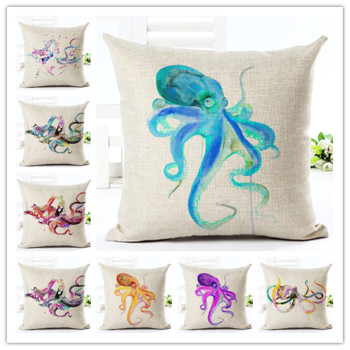 Watercolour Octopus Cushion Covers