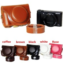 PU Leather Camera Bag Case Cover Pouch For Sony Cyber-shot D