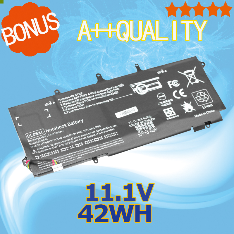 ApexWay 11.1V 42wh Laptop Battery for HP BL06XL BL06042XL HSTNN-DB5D HSTNN-W02C 722236-171 722236-2C1 HSTNN-IB5D 722297-005