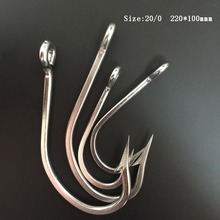 CN02 3pcs 20/0  Stainless Steel Mustad Fishing Hook Assist Hook J Type Fishing Hook