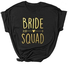 Bachelorette Bride Party T-shirt Women Team Birde Squad Arro