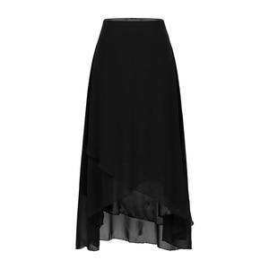 Image 2 - TiaoBug Elegant High Waist Tulip Hem Solid Color Ballroom Party Women Maxi Long Chiffon Skirt Contemporary Lyrical Dance Wear