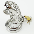 New Male Chastity Device Snakeheads Shape Stainless Steel Fetish Adult Sex Product