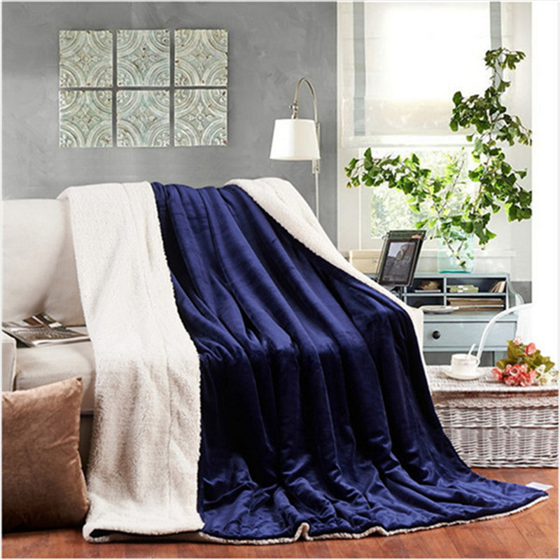 Solid Cashmere Blanket Thick Flannel Blankets Double Coral Fleece Bed Sheet Sofa Throws Blanket Children Quilt Winter Cobertor