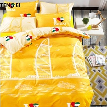 2016New3d bedding set 4pcs bed bedclothes duvet cover doona sheet pillowcase queen size bedding-set coverlet
