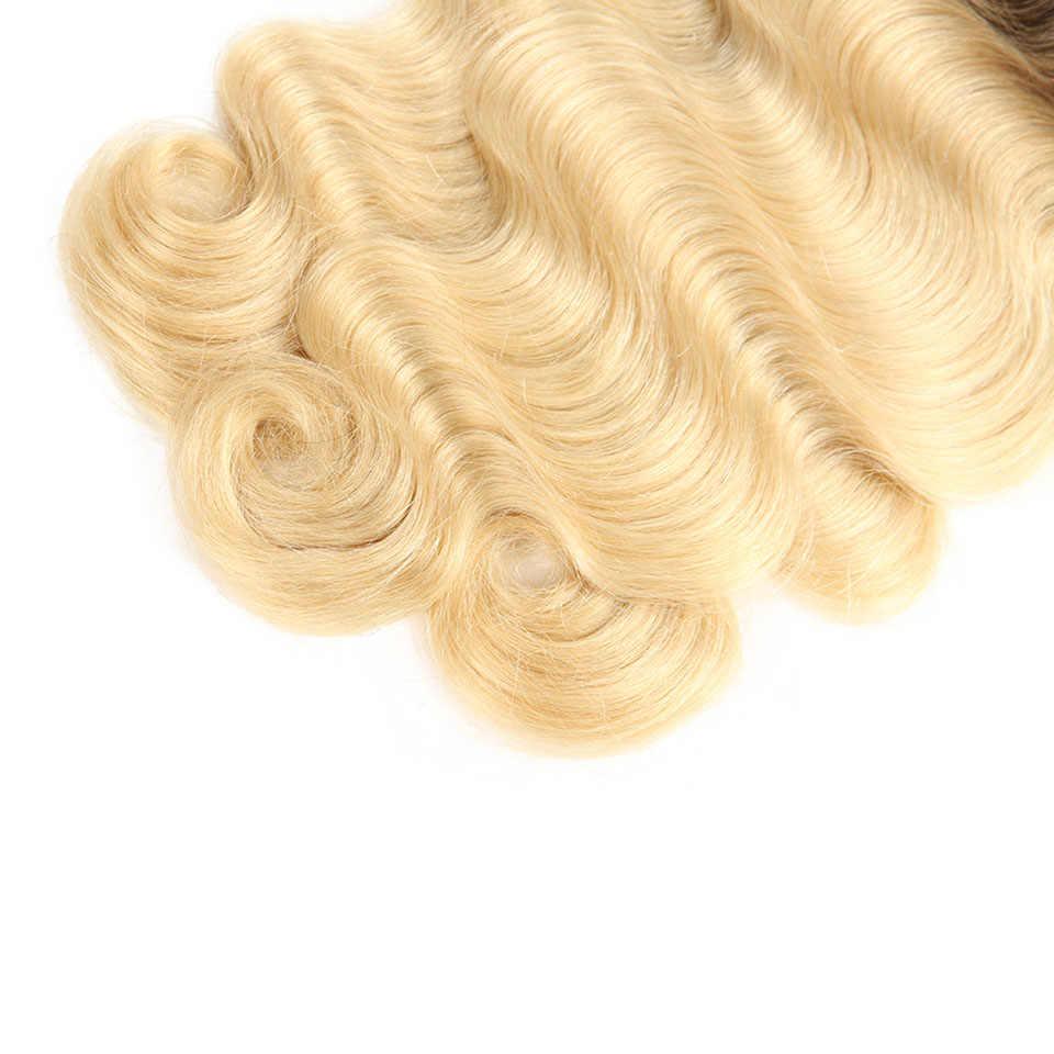 Sleek T1B/613 блонд пучки бразильских локонов объемная волна 100% пряди человеческих волос для наращивания волос 1 шт. Волосы remy от 10 до 30 дюймов Бесплатная доставка