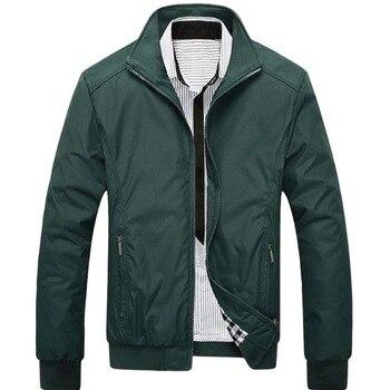 2019 Hot Men Oversize Solid Color Classic Bomber Jackets Men Spring Autumn Outerwear Mens Windbreaker Jackets Plus size 5XL Coat 1