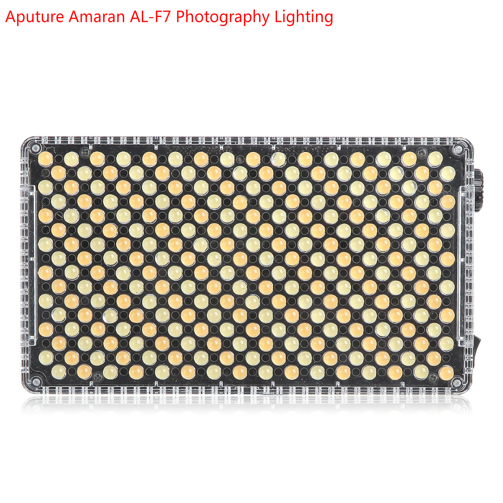 Aputure Camera Light Amaran AL-F7 Color Temperature 3200-9500K CRI/TLCI 95+ Led Panel Versatile Photography for Youtube Lighting aputure ls c300d cri 95 tlci 96 48000 lux 0 5m color temperature 5500k for filmmakers 2 4g remote aputure light dome mini