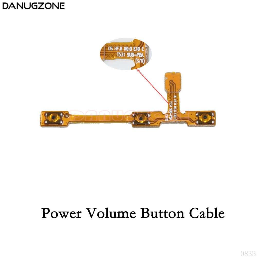 USB 充電ポートコネクタ充電ソケット電源ボリュームボタン Lcd ディスプレイフレックスケーブルサムスンギャラクシー T530 SM-T530 T531 T535