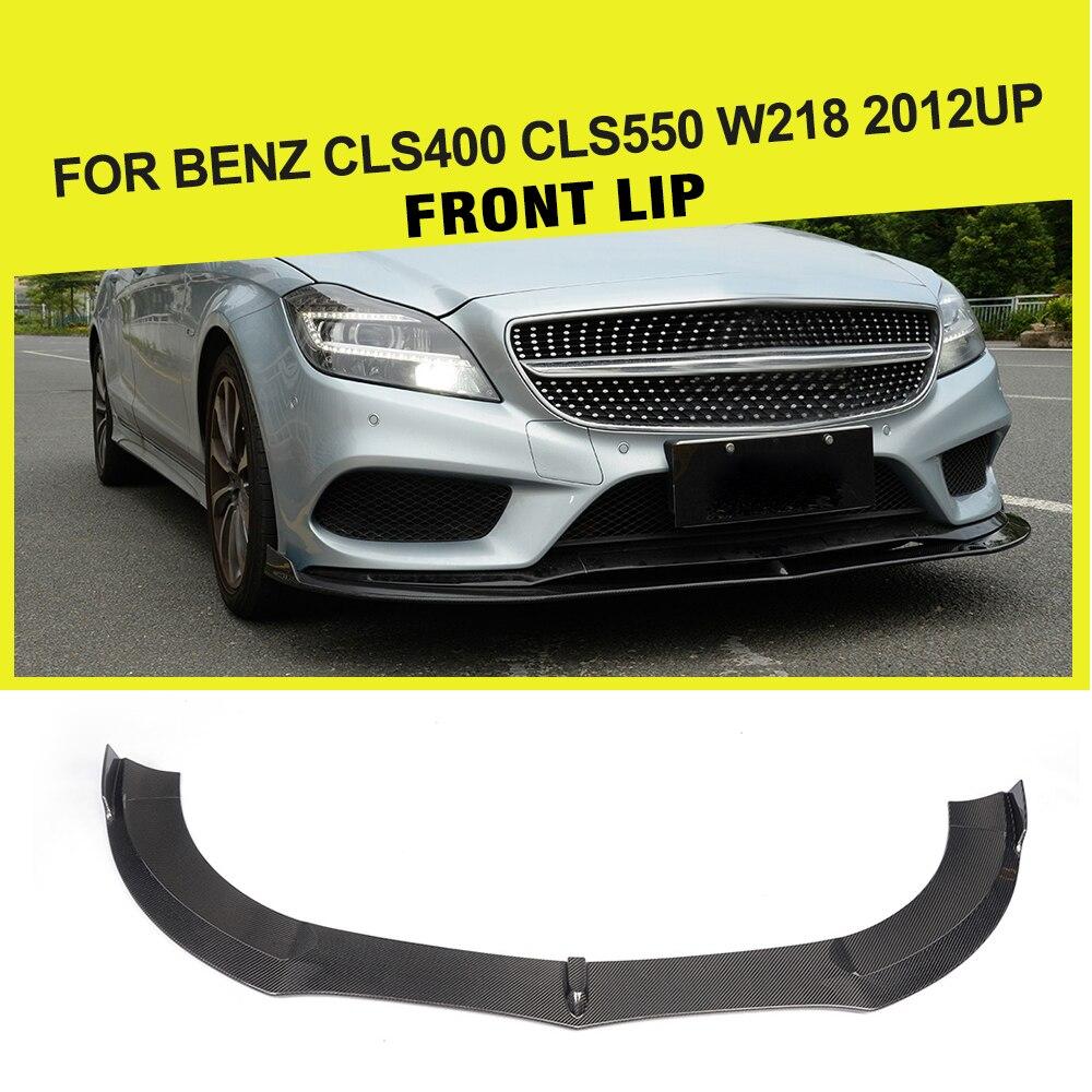 Voiture-Style Fiber De Carbone/FRP Racing Voiture Pare-chocs Avant Lip Spoiler Protecteur pour Mercedes Benz CLS400 CLS550 W218 2015-2017