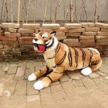Simulation tiger polyethylene&furs tiger model funny gift about 95cmx55cm