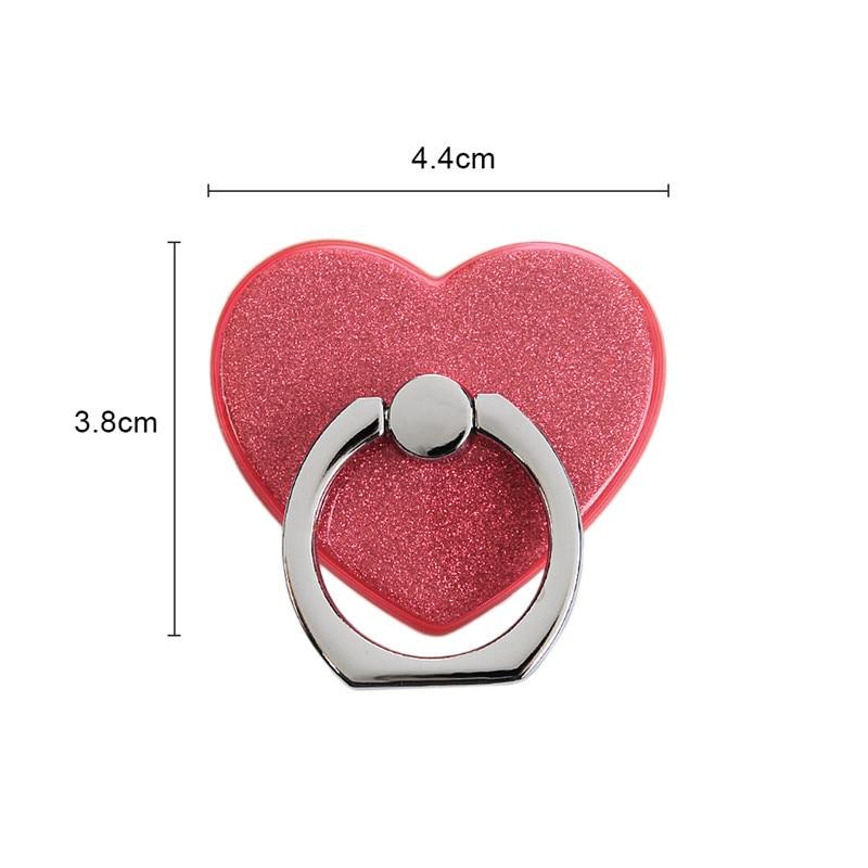YOKIRIN Love Heart Phone Stand Mount Pop Tablet Desk Finger Grip Holder For Smartphone iPhone Samsung Ring Grip Phone Holder