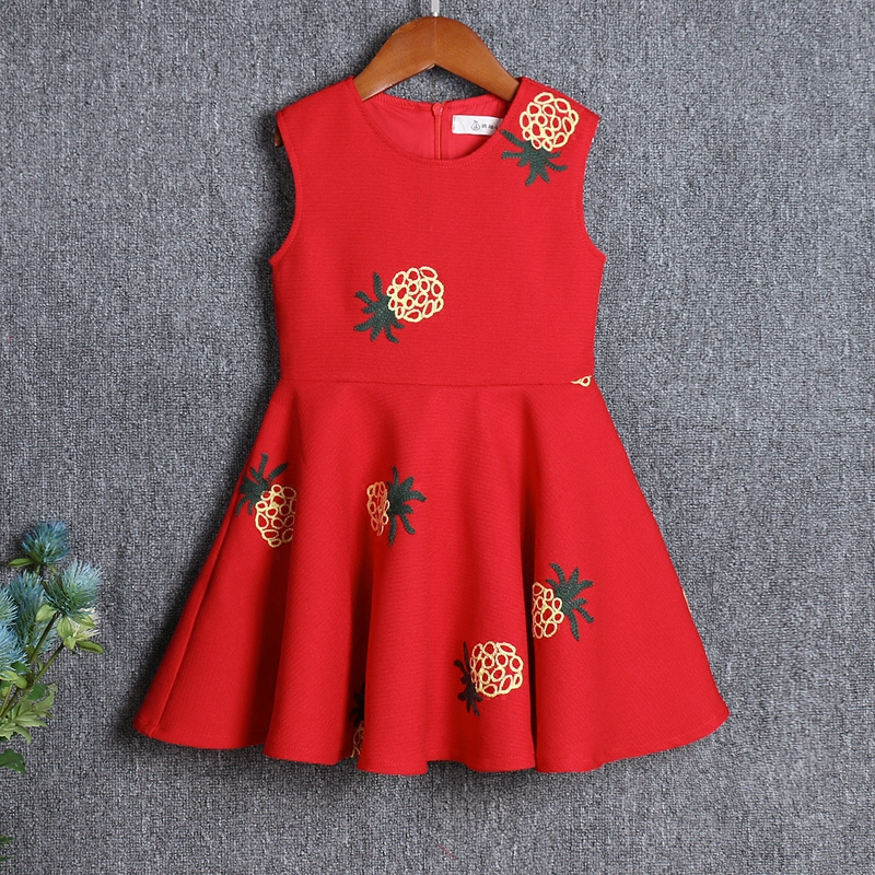 Brand Spring Family look Matching outfit kids Clothes mom baby girl pineapple sleeveless dress Mother and Daughter party Dresses family clothing spring matching clothes mother daughter long sleeve dresses and vest two piece set matching mom daughter dress