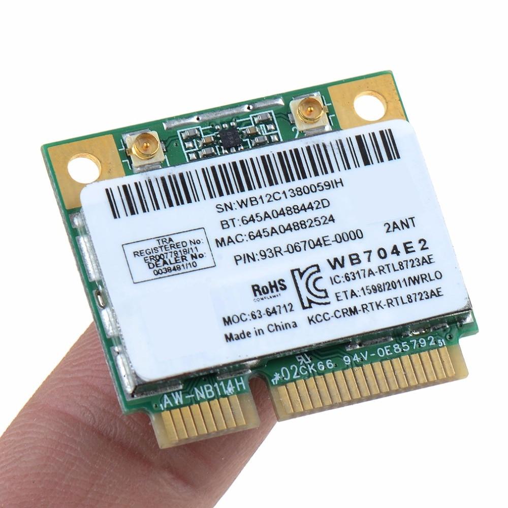 Ноутбук Сетевые карты Mini pci-e комбо Беспроводной карта Realtek rtl8723ae 300 м + 4.0 Bluetooth 802.11n Сетевые карты vcm18 P30