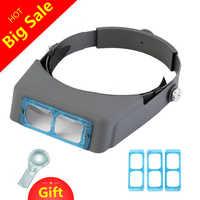 Optivisor 1.5x 2x 2.5x 3.5x Kopf Tragen Lupe Stirnband Brillen Lupe Reparatur Dritte Hand Helm Lupe Brille
