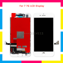 цена на AAA high quality LCD Display Screen With Touch Screen Digitizer Assembly For iphone 7 7G and 7 Plus Black White Repair Parts