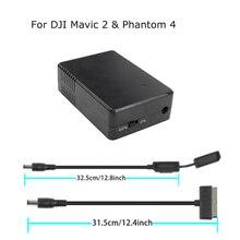 シリーズバッテリー収納放電器メンテナハブスクリーンプロテクターセーバー dji mavic 2 プロズーム & ファントム 4 ドローン 17.6v 1.5A アクセサリー