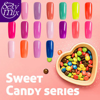Sexy Mix 17 pz 7 ml Dolce candy serie nail gel polish set soak off gel vernice lunga durata nail art pittura lacca gel kit