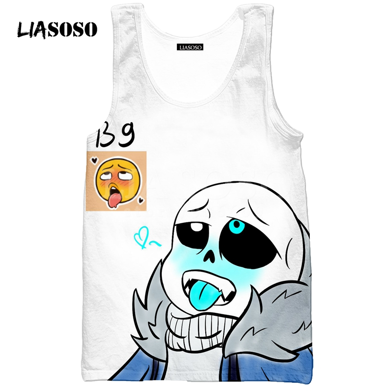 LIASOSO Summer NEW Animation Skull Undertale font b Latest b font font b Game b font