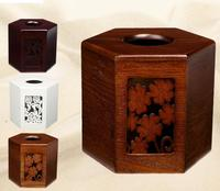 Organizer Organizador Storage Box Wooden Cylinder Towel Tube Wood Home Furnishing Six Angle Box European Carving Winding Room