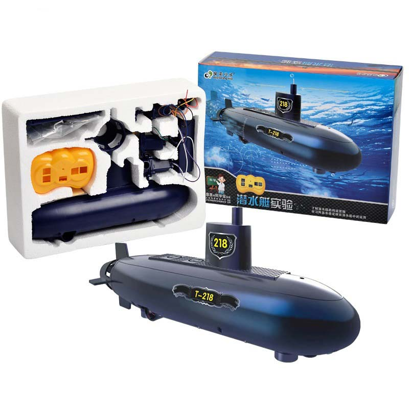 Updated Version RC Submarine Education Puzzle 2.4GHz Wireless Remote Control Electric Submarines Model Gift Toy For Children Kid
