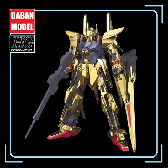 DABAN Model 1/144 HGUC Gold Plated Delta DELTA GUNDAM Out of Print Rare Spot Deformable Action Figure Kids Assembled Toy Gifts