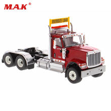 Collection Diecast 1/50 Red HX520 Day Cab Tandem Tractor Trailer Truck diecast model cars toy gift