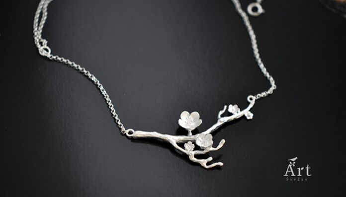 ZTUNG  GUP9  women fine jewelry,delicate the plum blossom necklace,925 silver pendant as a gift for young ladyZTUNG  GUP9  women fine jewelry,delicate the plum blossom necklace,925 silver pendant as a gift for young lady