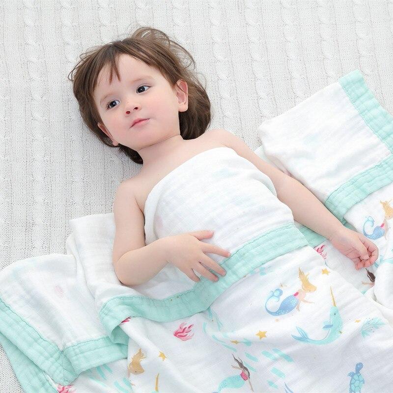 Cuatro capas de bambú muselina bebé manta muselina árbol swaddle mejor que Aden Anais Bebé/de bambú manta abrigo infantil