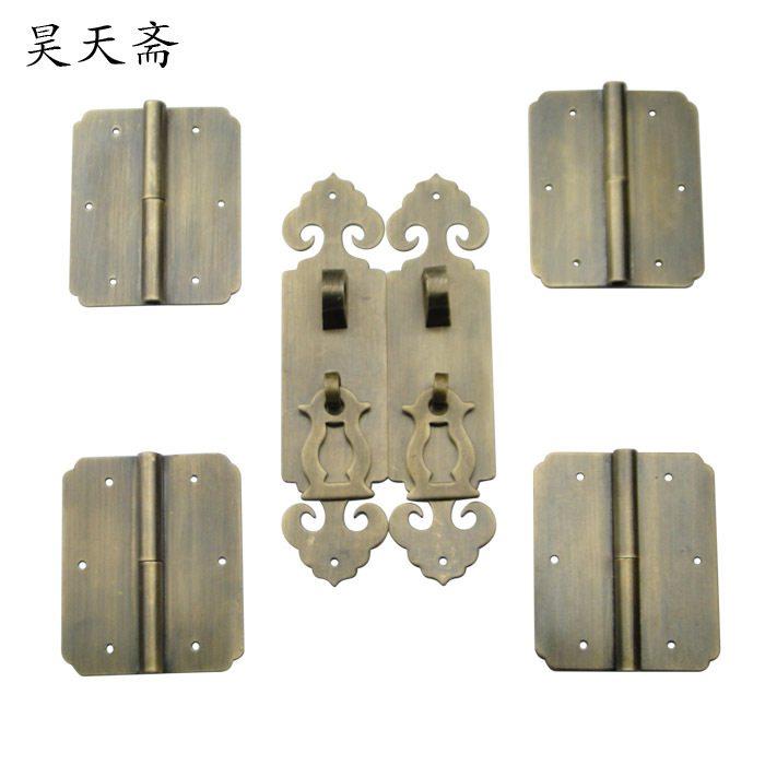 [Haotian vegetarian] antique handle shoe cupboard door Chinese antique bookcase wishful handle kit (flat) new for acer vx15 vx5 591g lcd back cover ap1ty000100