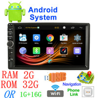 7'' Android radio car Stereo MP5 Bluetooth USB SD 2 din GPS car radio 7018a Car Multimedia Player autoradio RAM 2G+ ROM 32G