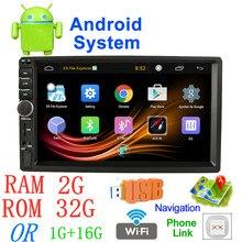 7 »Android Радио Стерео MP5 Bluetooth USB SD 2 din gps автомобиля радио 7018a Автомобильный мультимедийный плеер авторадио оперативная память 2G + Встроенная память 32G