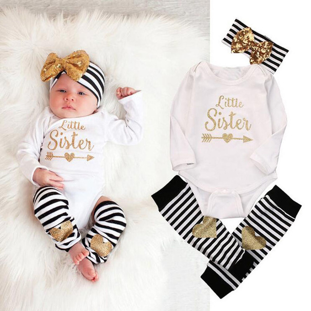 3Pcs/set Cute Baby Long Sleeve Letters Print Clothing Set Boy Girl Romper Infant Jumpsuits Rompers Kids Clothes (Tops+Pant+Cap)
