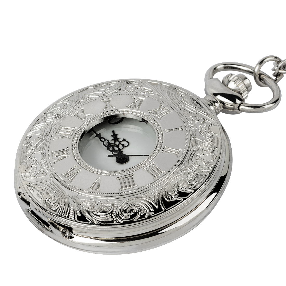 Vintage Clock Necklace Mechanical Digital Pocket Watch Vintage Simple Silver Bronze Watch Chain Watch For Men And Women