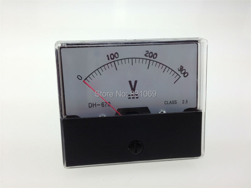 1PCS DH670 DC 0-300V 300V Analog Volt Voltage Voltmeter Panel Meter Brand New