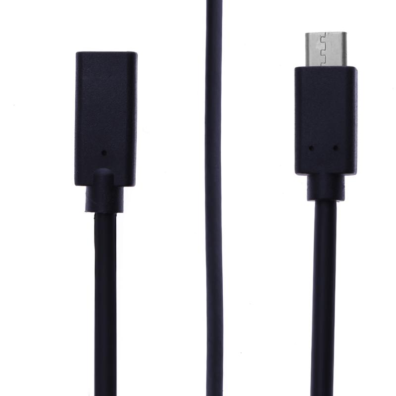 USB Type-C to Type-C Cable Male to Female USB C 3.1 Connector Cables Extender Extension Adapter Kable Line vakind usb cable 0 2m usb 3 1 usb c type c type c male to micro usb2 0 5pin male connector adapter data charging cable wire cord