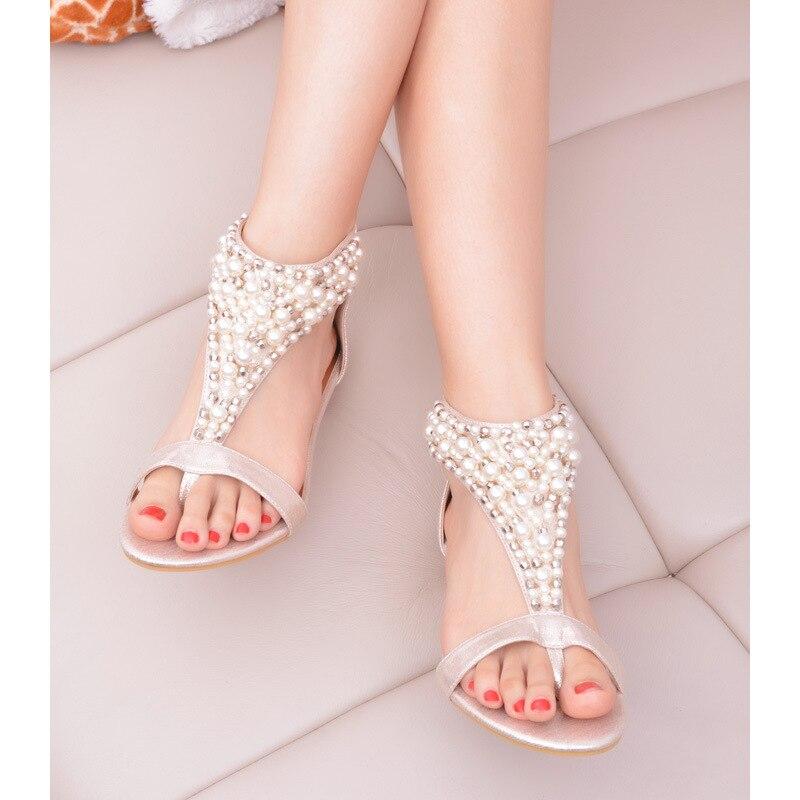 Platform Sandals Women Shoes Bohemia Gladiator Beaded National